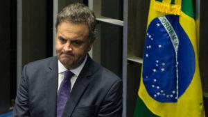 秘密録音で賄賂要求していた様子が暴露され、休職を命じられたアエシオ上議(Foto Lula Marques/AGPT)