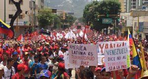 政府支持派のデモ(Carmen Meléndez/gestionperfecta)