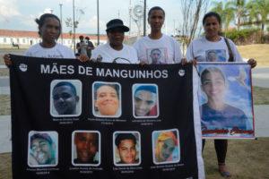 2月にリオで行われた、警察に息子を殺された母親の抗議行動(参考画像 - Fernando Frazão/Agência Brasil)
