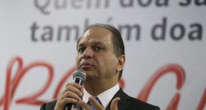 世界献血者デー記念イベント出席時のリカルド・バロス保健相(José Cruz/Agência Brasil)