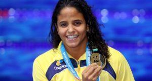 世界水泳で金メダルを獲得したエチエニ・メデイロス(Satiro Sodré/SSPress/CBDA)