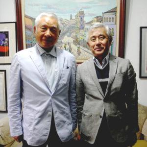 来社した大熊さん、須郷会長
