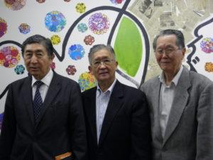 桂川評議委員会会長、鈴木会長、木下ラジオ体操部部長