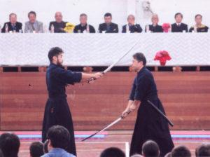 真剣を使っての剣道の形の披露