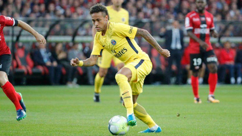 13日、PSG移籍初の試合でのネイマール(C.Gavelle/PSG)