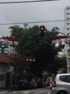 サンパウロ市リベルダーデ地区の信号(参考画像)