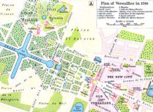ヴェルサイユ宮殿(1789)の図面(William Robert Shepherd [Public domain], via Wikimedia Commons)
