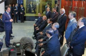 2014年8月2日、来伯した安倍総理は日系社会代表者と懇談した