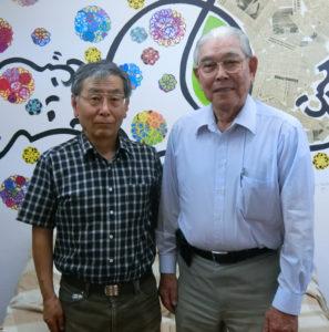(左から)岡崎会長、吉田実行委員長