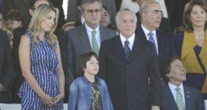 7日、独立記念日式典でのテメル大統領(Marcelo Camargo/Agência Brasil)