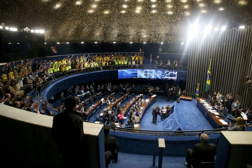 27日の上院(Wilson Dias/Agência Brasil)