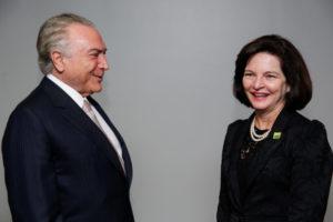 就任式でのドッジ長官(18日、Marcos Corrêa/PR)