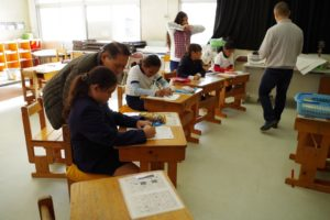 日本の公立小学校に通う日系子弟たち