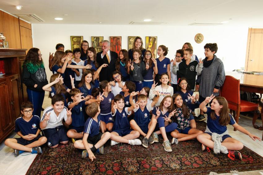 今年5月に大統領公邸を訪問した児童、生徒たち(参考画像・Alan Santos/PR)