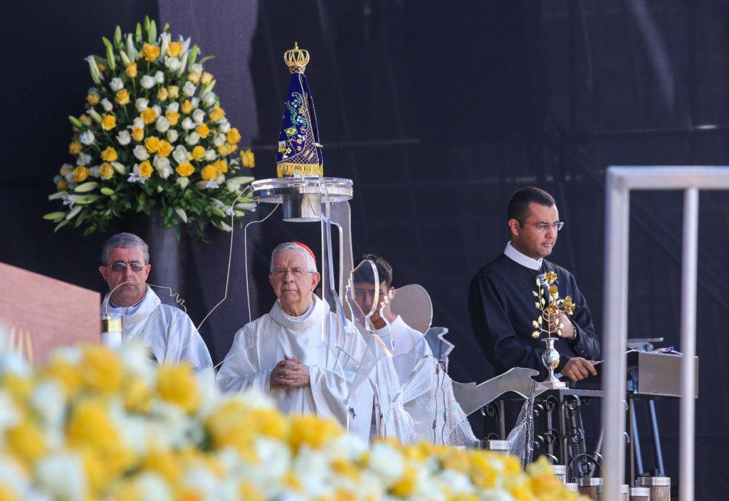 アパレシーダの聖堂でのミサの様子(Gilberto Marques/A2img)
