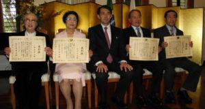 鈴木さん、石井恵子さん、野口総領事、石川さん、川合さん