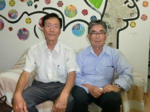 (左から)広瀬副会長、伊下副会長