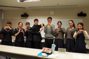 暁秀高校と三島北高校Bチームの集合写真