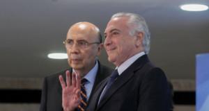 テメル大統領とメイレレス財相(Beto Barata/PR/FotosPúblicas)