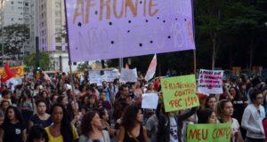 PEC181に抗議する人々(Rovena Rosa/Agência Brasil)