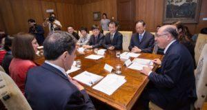 聖州政庁での協議の様子(Diogo Moreira/A2img)