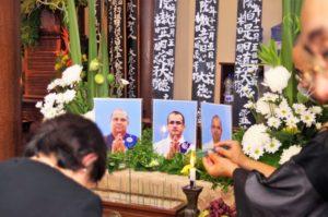 昨年交通事故で亡くなった住職3人の一周忌法要 写真