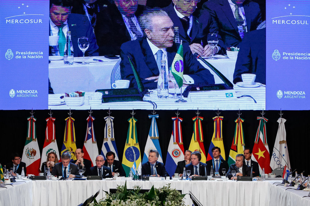 メルコスル首脳会議の様子(7月21日、アルゼンチンのメンドーサで、Foto: Alan Santos/PR)