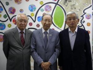 来社した山田さん、原田さん、木多さん