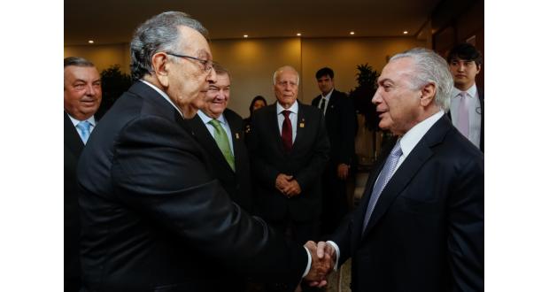 12日のテメル大統領(Marcos Corrêa/PR)