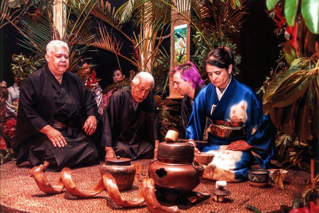 裏千家の中南米布教60周年記念(2014年)で特別に設けられたお茶席「アマゾン席」の様子(参考写真)