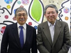 来社した谷口実行委員長、小田第一副理事長