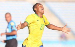 U20ブラジル代表時代のマウコン(Rafael Ribeiro/CBF)