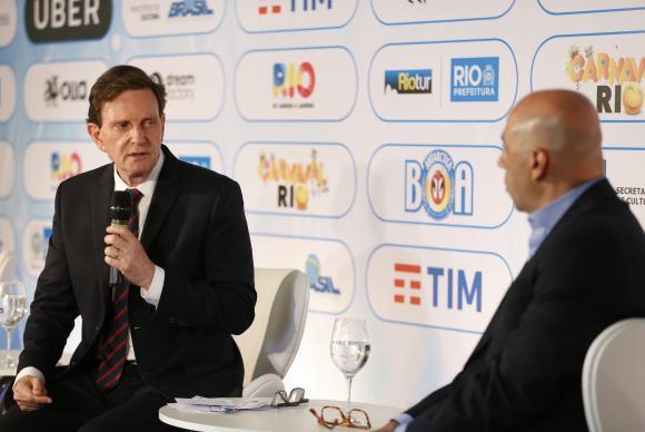 マルセロ・クリヴェッラ市長(左)とマルセロ・アウヴェスRiotur総裁(Tomaz Silva/Agência Brasil)