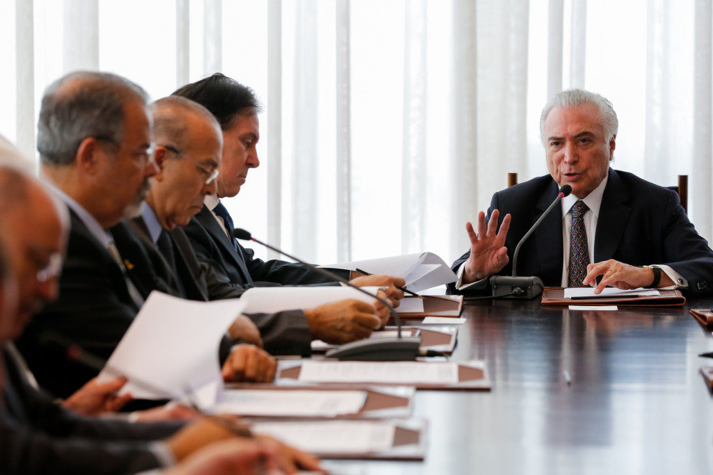 19日の全国保安審議委員会の様子(Fotos: Marcos Corrêa/PR)