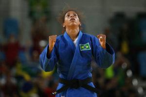 リオ五輪で金メダルを決めた際のラファエラ・シウヴァ(Roberto Castro/Brasil2016)