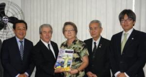 マルコ救世教会長が贈与式に出席した