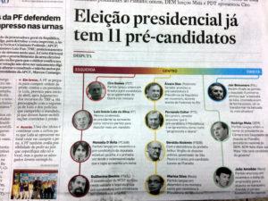 エスタード紙に掲載された候補者11名