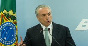 JBSショック後に「辞任はしない」と明言したテメル大統領(17年5月18日、Lula Marques/AGPT)