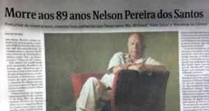 監督の死を報じるフォーリャ紙