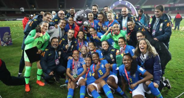 女子サッカー南米選手権で全勝優勝を達成したブラジル代表(Lucas Figueiredo/CBF)