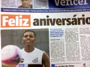 ロドリゴの活躍を報じるブラジルのメディア