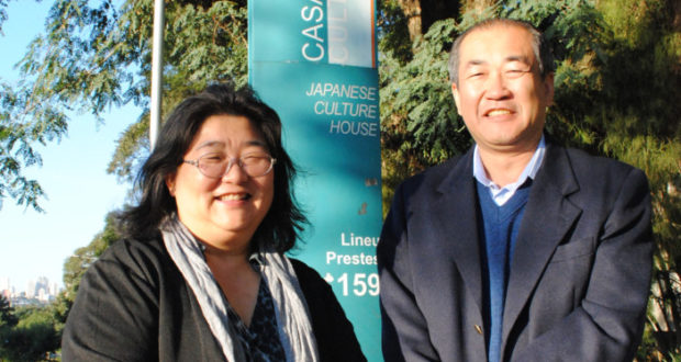 左から松原教授と菊池所長