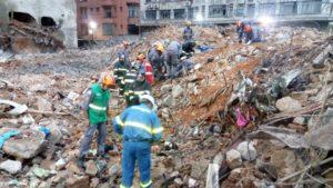 2人目の遺体が発見されたビルの跡地(@BombeirosPMESP)