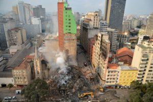火災発生翌日の現場の様子(Rovena Rosa/Agência Brasil_02/05/2018)