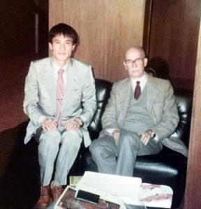 有名なブラジル文学研究者のアントーニオ カンジドさんと田所さん(本人提供)