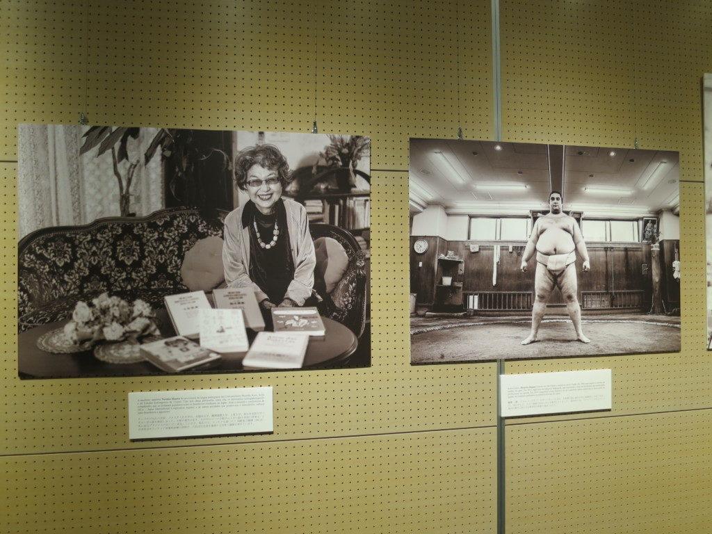今週から海外移住資料館で始まったブラジル日本人移民110周年記念展示の中の「活躍する在日ブラジル人」(写真=JICA提供)
