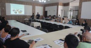 パラナ州クリチーバ市にある兵庫会館。県の駐在員が常駐し、このような県産品を紹介するイベントも開催される
