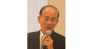 日伯国会議員連盟で講演する日下野理事長