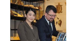 博物館を訪問した眞子さま(撮影=望月二郎)