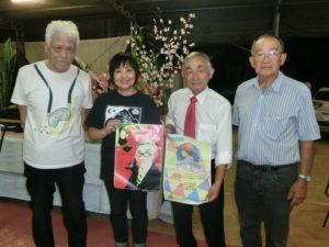 (左から)山南さん、坂本代表、プロミッソン公演を手伝う安永和教さん、孝道さん
